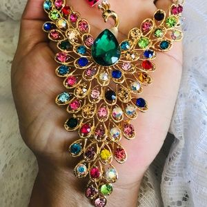 BETSEY JOHNSON~ PEACOCK Necklace